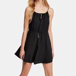Free people black spaghetti strap mini dress